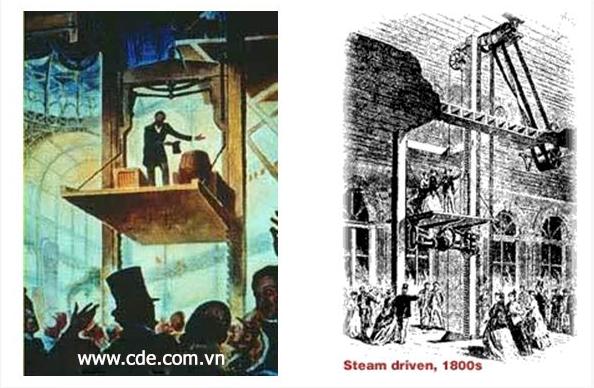 Lịch sử phát triển thang máy